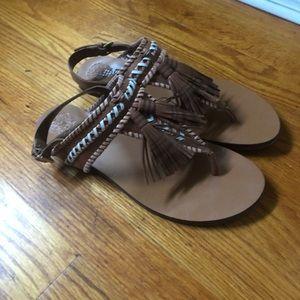 Vince Camuto fringe sandals, size 10